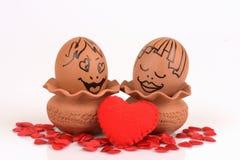 Couples d'oeufs d'arts et de visage Photographie stock libre de droits