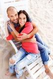 Couples d'une cinquantaine d'années dehors Photo libre de droits