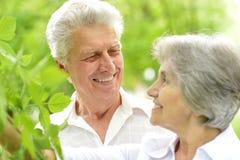 Couples d'une cinquantaine d'années heureux Photos stock