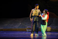 Couples dance- Jiangxi opera a steelyard Stock Image