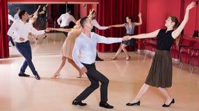 Couples dancing active swing Stock Photo