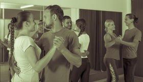 Couples dancing Latino dance Stock Photos