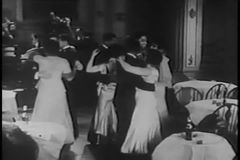 Couples dancing at night club, 1930s stock video