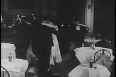 Couples dancing in night club, 1930s stock footage