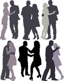 Couples dancing Stock Images