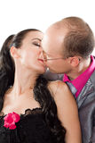 Couples dans des baisers d'amour photos stock
