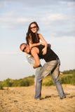 Couples dans des jeans Photos stock