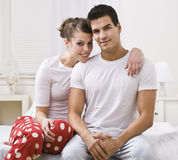 Couples dans des pyjamas Images stock