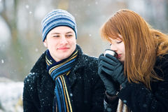 Couples dans l'amour Photo stock