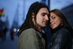 Couples dans l'amour Photo libre de droits