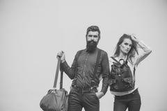 Couples dans l'amour Ajouter aux sacs Photos libres de droits