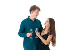 Couples dans l'amour ayant l'amusement Image stock