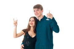 Couples dans l'amour ayant l'amusement Photographie stock libre de droits