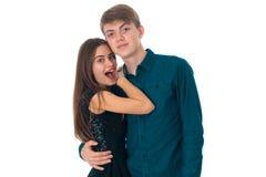 Couples dans l'amour ayant l'amusement Photos stock