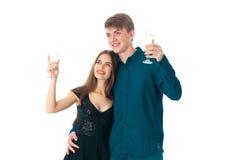 Couples dans l'amour ayant l'amusement Photographie stock