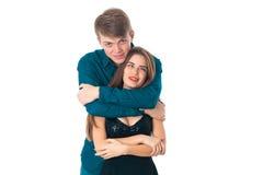 Couples dans l'amour ayant l'amusement Images libres de droits