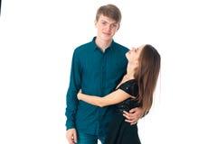 Couples dans l'amour ayant l'amusement Photos libres de droits