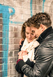 Couples dans l'amour - début de Love Story Images libres de droits