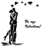 Couples dans l'amour embrassé Image libre de droits