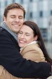 Couples dans l'amour en hiver Photographie stock