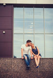 Couples dans l'amour et romantique Photos libres de droits