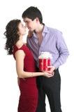 Couples dans l'amour, jour de Valentine. Images libres de droits
