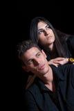 Couples dans l'amour, portrait gentil Photographie stock libre de droits