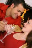 Couples dans l'angle d'amour Image stock