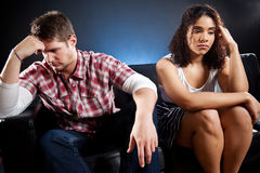 Couples dans l'ennui Photographie stock libre de droits