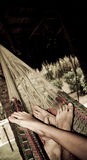 Couples dans l'hamac Photographie stock