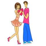 Couples dans l'illustration et le retrait d'amour Images stock