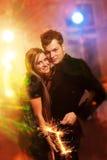 Couples dans la boîte de nuit Photo libre de droits
