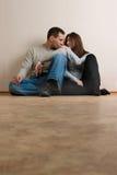 Couples dans la chambre vide. Image libre de droits