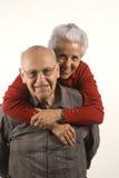 Couples dans la conduite de ferroutage Photo libre de droits
