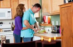 Couples dans la cuisine Images libres de droits