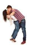 Couples dans la danse et des baisers d'amour Photographie stock libre de droits