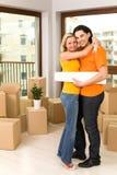 Couples dans la maison neuve Images libres de droits