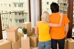 Couples dans la maison neuve Image stock