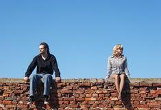 Couples dans la querelle Photo libre de droits