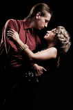 Couples dans la rétro danse de type photos libres de droits