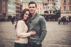 Couples dans la vieille ville Image libre de droits