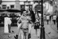 Couples dans la ville Images libres de droits