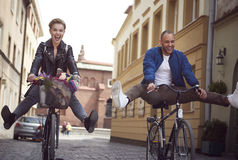 Couples dans la ville Photo libre de droits