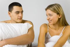 Couples dans le bâti images libres de droits