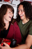 Couples dans le café Photographie stock libre de droits