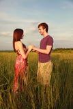 Couples dans le domaine photos stock