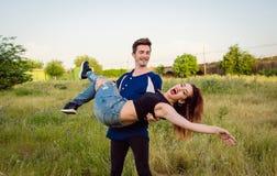 Couples dans le domaine Photographie stock libre de droits