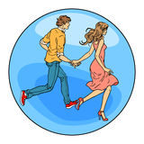 Couples dans le garçon et la fille d'amour Photos libres de droits
