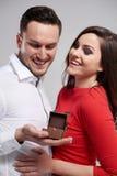 Couples dans le jour du ` s de Valentine Images stock
