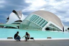 Couples dans le musée de science Valence Photo stock